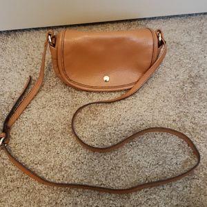 Small Tan Crossbody Bag with Extra Pockets